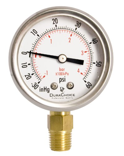"""Used, 2"""" Oil Filled Vacuum Pressure Gauge - Stainless Steel for sale  Delivered anywhere in USA"""
