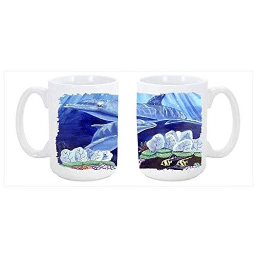 CoolCookware Dolphin Under The Sea Dishwasher Safe Microwavable Ceramic Coffee Mug 15 oz. CO55027 from Cocobeen