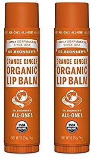 Dr. Bronners Organic Moisture Lip Balm & Magic Massage Balm (Orange Ginger Lip Balm, 2 - Organic Bronners Magic Balm
