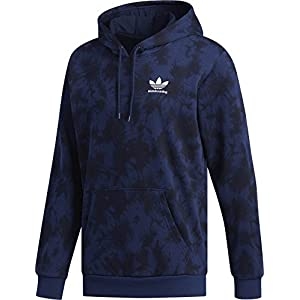 adidas Skateboarding Men's Clima 2.0 Crystal Wash Hoodie Night Indigo/Black Medium