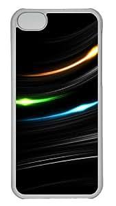 Customized Case Minimalist style 4 PC Transparent for Apple iPhone 5C