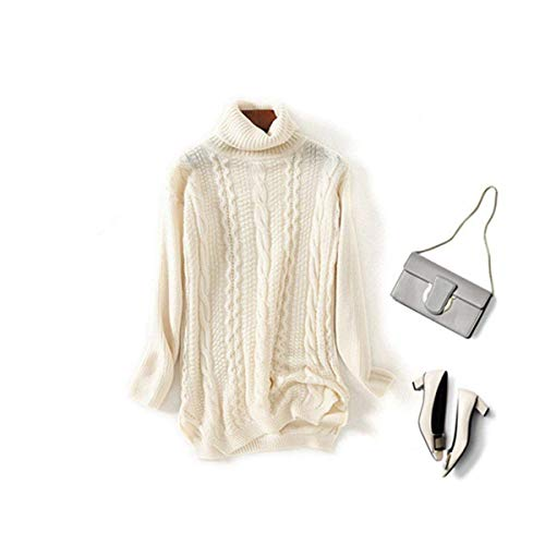 Size Hemp Knitted Fashion Red Knit Stretch Beige A color One Autunno New Alto Work Maglione Size Home Qualità Inverno Collo Twist Marcu Pullover Basic Tops wgqZvzT