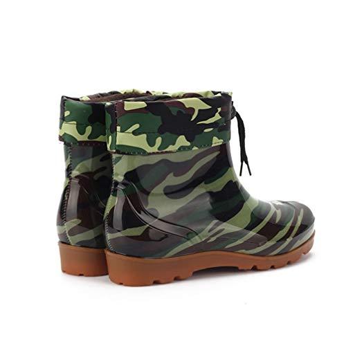 [ムリョシューズ] 長靴 メンズ 安全長靴 耐滑 軽い 防水 軽量 軽半長靴 レインブーツ メンズ ブーツ PVC製 アウトドア シンプル 26.5cm 梅雨対策 大きいサイズ 男性 園芸 お釣り レインシューズ 長靴 男性 子供 エーファクトリー ロング グリーン/緑