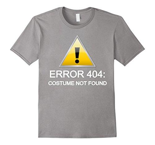 [Men's Error 404: Costume not found Halloween T-Shirt 2XL Slate] (Costume Not Found 404)