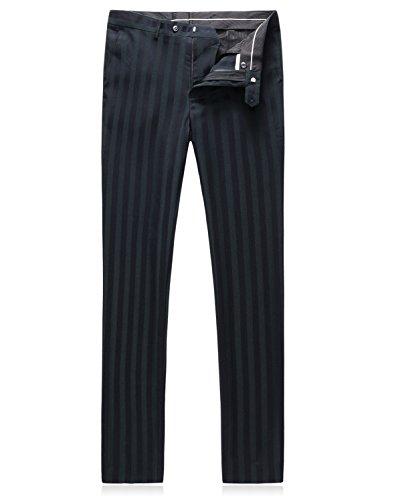 Hombre 3 2 Rayas Slim Vestido Botón Adapta Fit A Se Piezas Mogu 4nZwxfqFOw