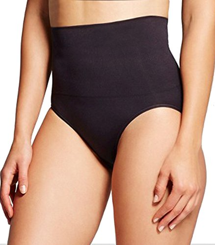 High Waist Cincher Trainer Thong Shapewear Body Shaper Underwear Girdles Panties for Women Tummy Control Slimmer (Black, L)