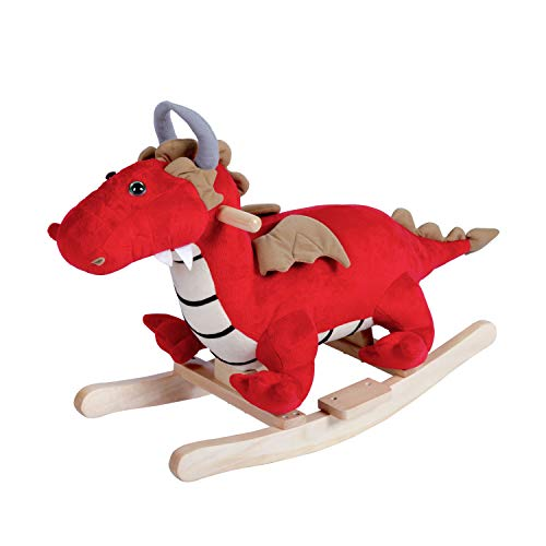 - Peach Tree Rocking Horse Dragon Rocker Horse Toy Child Rocking Horse Kids Plush W/ 32 Nursery Rhymes, Red