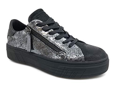Para grigio Zapatillas Mujer 25363aa1 Crime Negro London 030 30 IxOqTnwgz6
