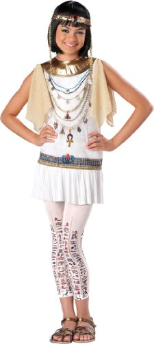 InCharacter Costumes Girl's Cleo Cutie Cleopatra Costume, White/Gold, Large -