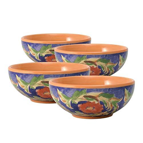 Pfaltzgraff Villa Della Luna Set of 4 Fleur Soup or Cereal Bowls, 24-Ounce