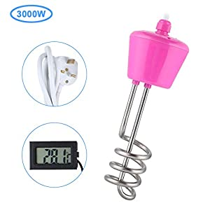 Water Heating Element, Haofy 3000W High Power Stainless Steel Electric Floating Immersion Element Water Heater Boiler