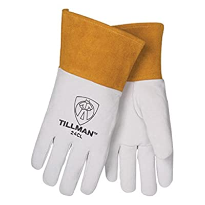 "John Tillman and Co 24CM Premium Top Grain Pearl Kidskin MIG/TIG Welder's Glove with 4"" Cuff, Straight Thumb and Kevlar Thread, Medium: Welding Safety Gloves: Industrial & Scientific"