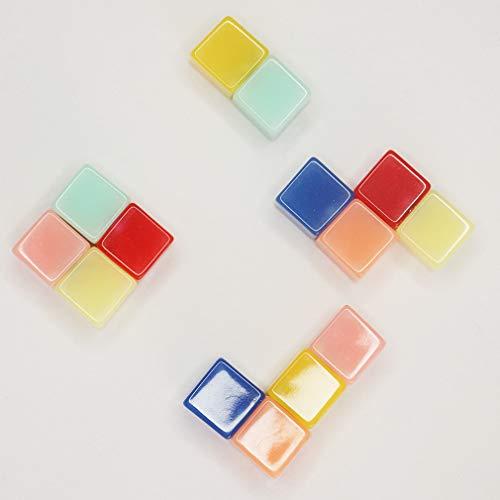 VNthings Cute Decorative Luminous Cube Fridge Magnets Office Magnet for Calendars Whiteboards Maps 7 Multicolors (14 pack)