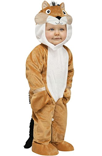 [Soft Cuddly Chipper Chipmunk Jumpsuit Infant Costume] (Giant Bra Costume)
