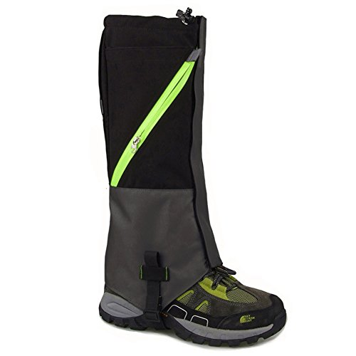 Outdoor Durable Waterproof Highly Breathable Hiking Climbing Hunting Double-deck High Leg Gaiters