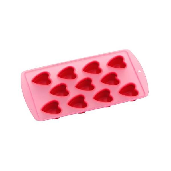 Premier Housewares Vaschetta per Il Ghiaccio, Forma di Cuore, TPR Rosso 1 spesavip