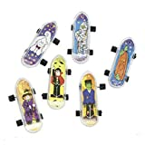 36 HALLOWEEN Party Favors Plastic MINI Halloween Character FINGER SKATEBOARDS