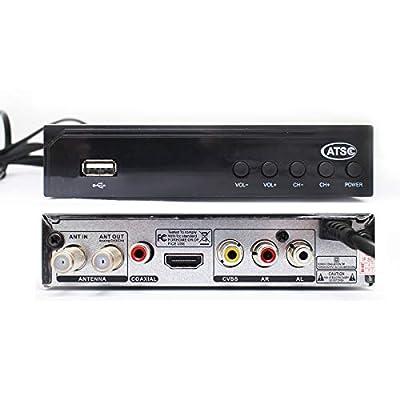 Digital Converter Box Vmade ATSC Set Top Box for Analog TV HD 1080P Multimedia Playback HDTV Set Top Box