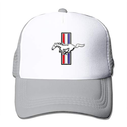 Custom Ford Mustang Logo Cool Adjustable Mesh Cap Gray