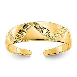 14K Yellow Gold Fancy Toe Ring