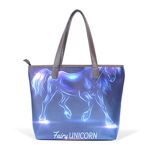 Fairy Handle Sparkles Shoulder With Bags Tote Large Unicorn Handbag Women Top Patern Bennigiry Ladies Iv0H1H