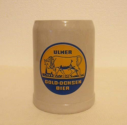 Vintage Ulmer Gold-Ochsen Bier .5 L German Pottery Beer Stein ()