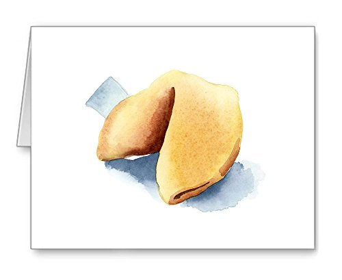 Fortune Cookie - Set of 10 Note Cards With - Card Cookie Fortune