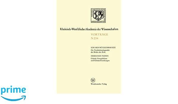 Globale Energiebilanz Und Klimaschwankungen: 215. Sitzung Am 4. April 1973  In Düsseldorf ... Akademie Der Wissenschaften) (German Edition)  (9783531082349): ...