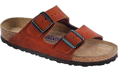 Birkenstock Women's Arizona Soft Footbed Sandal Rooibos Tea Suede Size 42 M EU