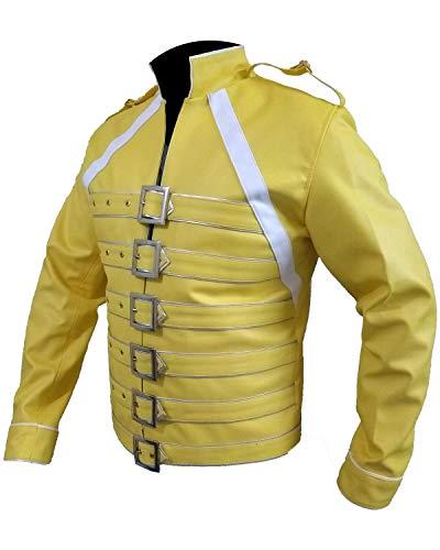 3xl Pour En Freddie Yellow Wembley Concert Veste Synthétique Mercury xxs Cuir Hommes Fw1PqR