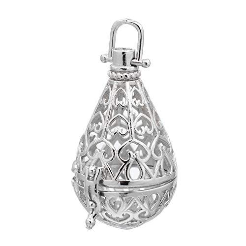 arricraft 10pcs Brass Prayer Box Pendants Hollow Drop