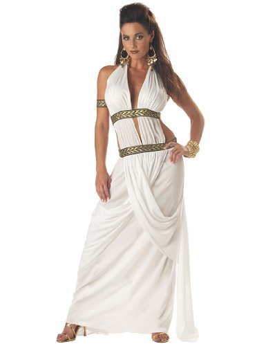 Spartan Costumes Female (California Costumes Women's Spartan Queen,White,Medium Costume)