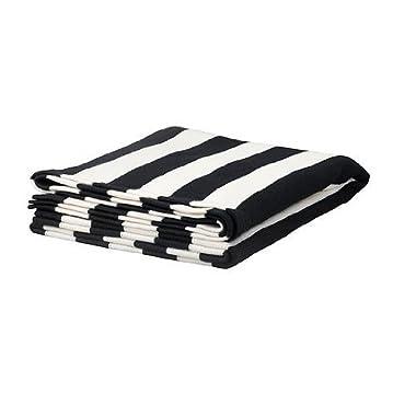Ikea Striped Knit Throw, Black/white