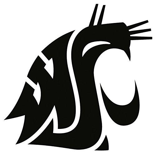 (ANGDEST WSU WAZZU Washington State University (Black) (Set of 2) Premium Waterproof Vinyl Decal Stickers for Laptop Phone Accessory Helmet Car Window Bumper Mug Tuber Cup Door Wall Decoration)