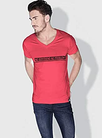 Creo No Bf No Problem Funny T-Shirts For Men - S, Pink