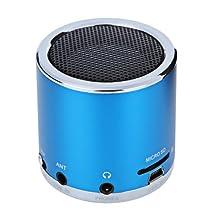 Kingzer Mini enceinte Lecteur MP3/Micro SD/TF amplificateur Audio son Bleu