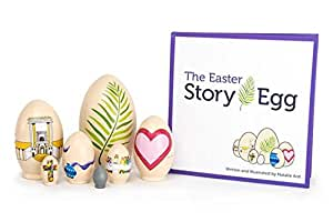 The Easter Story Egg – Colorful Nesting Toy with Resurrection Book – Great Christian or Catholic Gift for Children