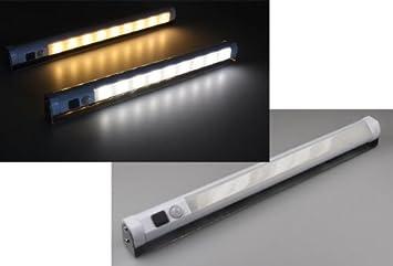 LED Unterbauleuchte / Schrankleuchte Mit Bewegungsmelder, Batteriebetrieb,  Weiß
