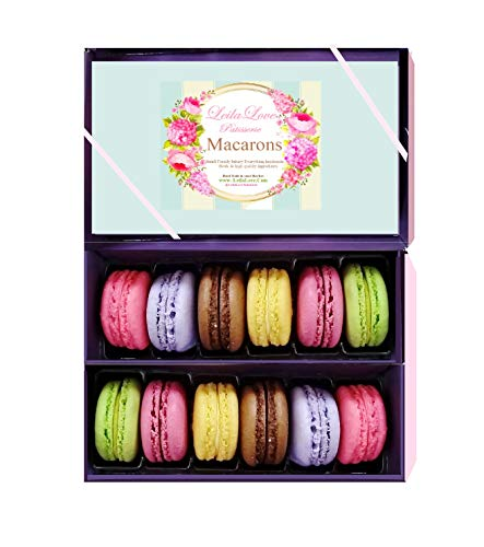 (Leilalove Macarons 12 French Macaron - Baked to order Gift to remember - cookies warped individually to prevent breakage)