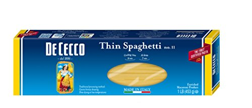 De Cecco Pasta, Thin Spaghetti, 16 Ounce (Pack of 5) (Pasta Cecco compare prices)