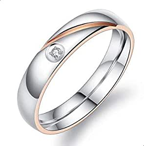 Ring for married silver with white zircon siz 8