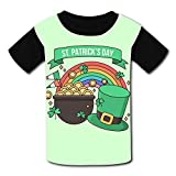 Youth Unisex Kids Short Sleeve Hat Elements with Cauldron and Rainbow T-Shirts Tees for Children Boys Girls