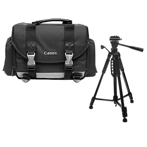 Canon 200DG Digital SLR Camera Case Gadget Bag + Tripod Kit for EOS 6D, 70D, 7D, 5DS, 5D Mark II III, Rebel T3, T3i, T5, T5i, T6i, T6s, SL1 by Canon