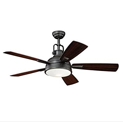 Turn of the Century Lafitte 52 In. Gold Stone Ceiling Fan Modern Industrial Light Remote Control