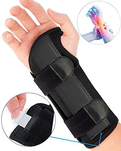 Carpal Tunnel Wrist Brace, Night Sleep Wrist Support, Removable Metal Wrist Splint for Men, Women, Tendinitis, Bowling, Sports Injuries Pain Relief - Right (The Best Carpal Tunnel Brace)