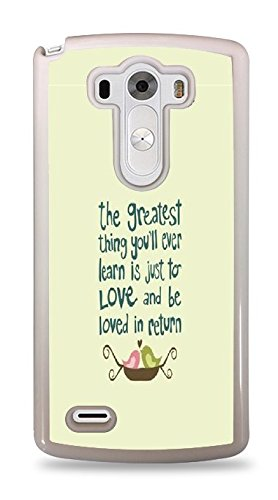Cinderella Love Quote Phone Case White Hardshell Case for LG G3 ()