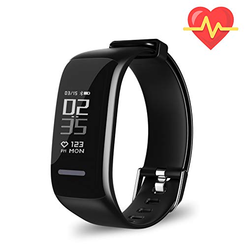 Price comparison product image Fitness Tracker HR,  Activity Tracker Watch with Heart Rate Monitor,  Waterproof Smart Fitness Band with Step Counter,  Calorie Counter,  Pedometer Watch for Kids Women and Men