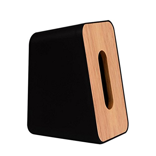 LiPing Vertical Facial Tissue Holders Box/Holders for Bathroom Vanity Countertops,Bedroom Dressers, Night Stands, Desks and Tables (black) from LiPing
