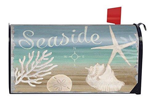 Seaside Summer Magnetic Mailbox Cover Nautical Starfish B...