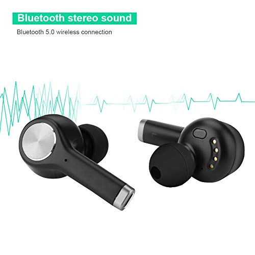 Instant Translator Device Smart Wireless Bluetooth Headset,ASHATA Waterproof 19 Language Translating Headphones Earpiece Earbuds with Dual Mic/Noise Reduction for Study Travel Busniess (Black) by ASHATA (Image #1)